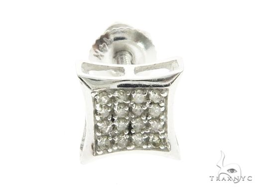 14K White Gold Micro Pave Diamond Stud Earrings 63740 10k, 14k, 18k Gold Earrings