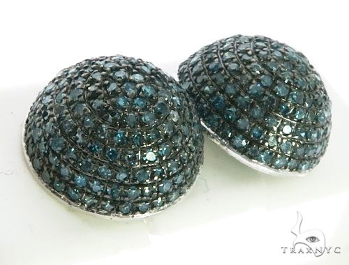 14K White Gold Micro Pave Diamond Stud Earrings. 63211 Stone