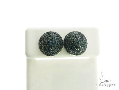 14K White Gold Micro Pave Diamond Stud Earrings. 63211 Stone