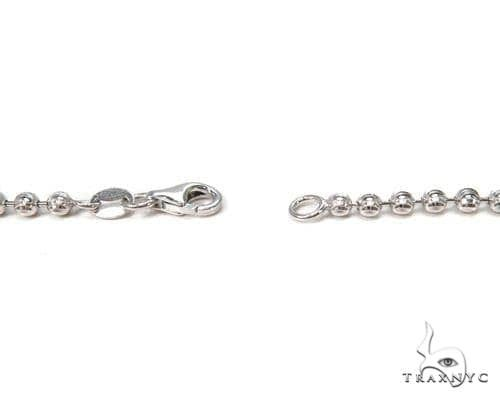 14K White Gold Moon Cut Link Chain 22 Inches 3mm 14.3 Grams 64800 Gold