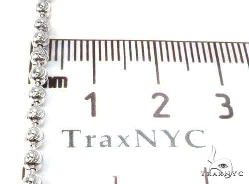 14K White Gold Moon Cut Link Chain 26 Inches 3.5mm 25.5 Grams Gold