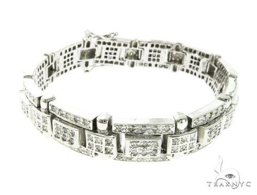 14K White Gold Prong Diamond Bracelet 63770 Diamond