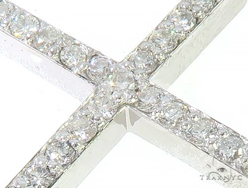 14K White Gold Prong Diamond Cross Pendant 65448 Diamond Cross Pendants