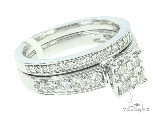 14K White Gold Prong Diamond Engagement Ring Set 65737 Engagement