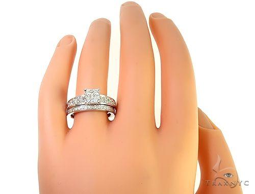 14K White Gold Prong Diamond Engagement Ring Set 65737 Engagement