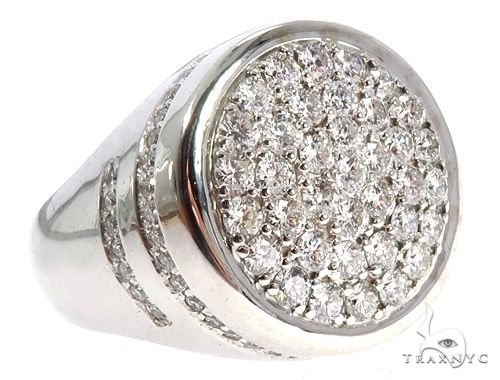 14K White Gold Prong Diamond Traxnyc Ring 64740 Stone