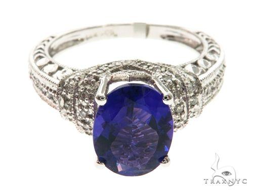 14K White Gold Prong Diamond Ring 63715 Anniversary/Fashion