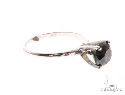 14K White Gold Prong Ring 63721 Anniversary/Fashion