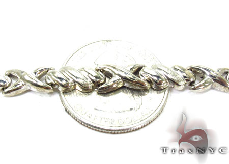 14K White Gold Triple X Bracelet Gold