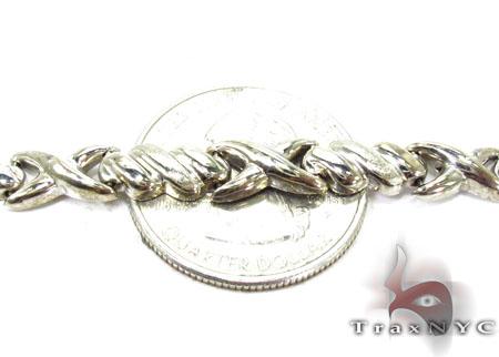 14K White Gold Triple X Bracelet Gold