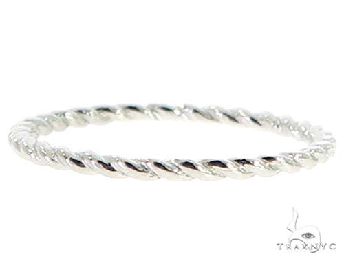 14K White Gold Twisted Band 56817 Anniversary/Fashion