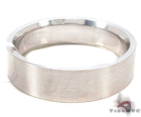 14K White Gold Wedding Band 33676 Style