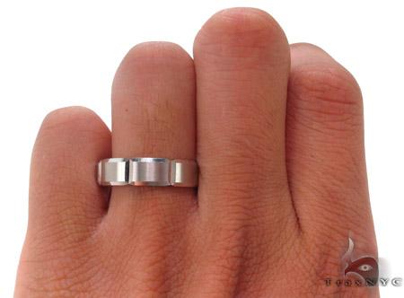 14K White Gold Wedding Band 33679 Style