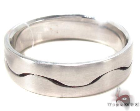 14K White Gold Wedding Band 33683 Style