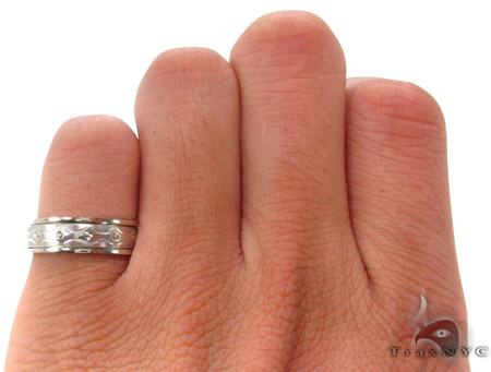 14K White Gold Wedding Band 33704 Style