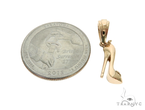 14K YG High Heel Shoe Charm Pendant 57700 Metal