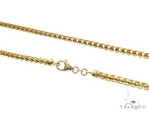14K YG Solid Franco Chain 24 Inches 4mm 58.3 Grams 66223 Gold
