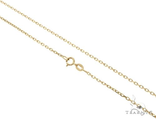 14K Yellow Gold Cable Link Chain 22 Inches 1.4mm 3.1 Grams 64397 Gold