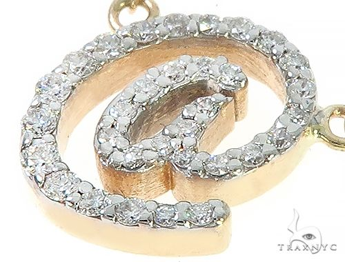 14K Yellow Gold At Sign Diamond Necklaces 65478 Diamond