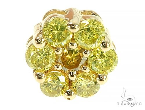 14K Yellow Gold Canary Flower Earrings 65785 Style