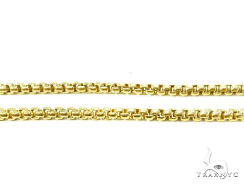 14K Gold Round Box Hollow Chain 20 Inches 3.5mm 13.30 Grams 36998 Gold