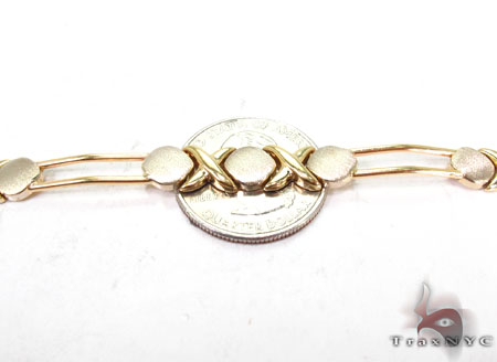 14K Yellow Gold Circle X Bracelet Gold