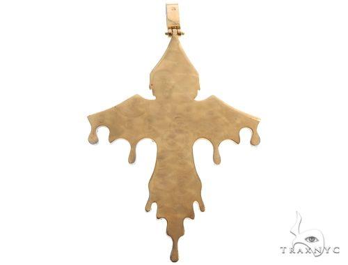 14K Yellow Gold Cross Pendant 64578 Diamond