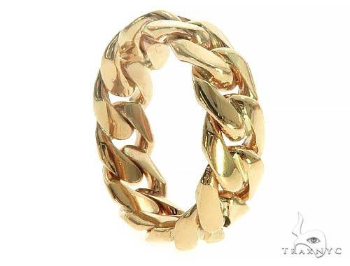 14K Yellow Gold Cuban Link Ring 66162 Metal