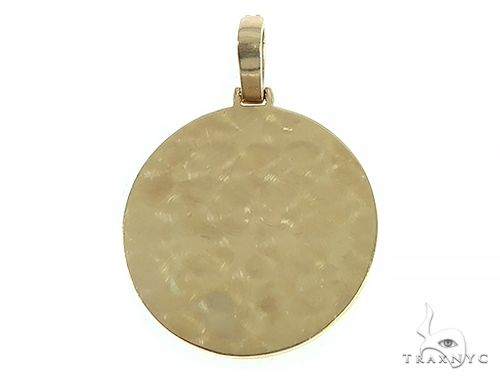14K Yellow Gold Custom Diamond Holographic Prism Photo Pendant 65758 Style