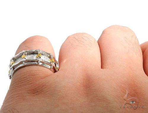 14K Yellow Gold Custom Drum Ring 63995 Stone