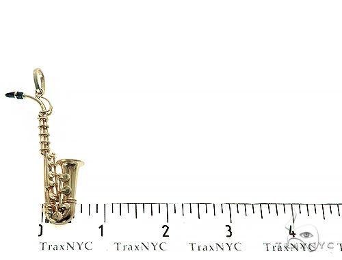 14K Yellow Gold Custom Made Saxophone Pendant 66052 Metal