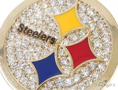 14K Yellow Gold Small Custom Steelers Pendant 65227 Metal