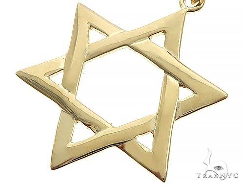 14K Yellow Gold David Star Pendant 65942 Metal