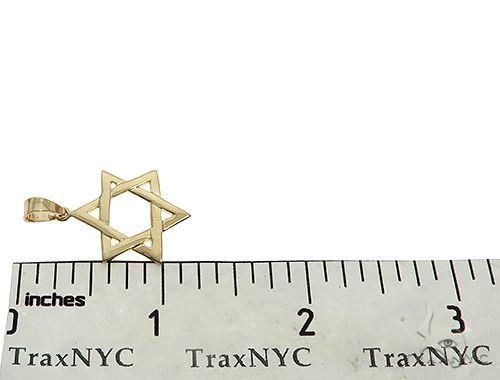 14K Yellow Gold David Star Pendant 65943 Metal