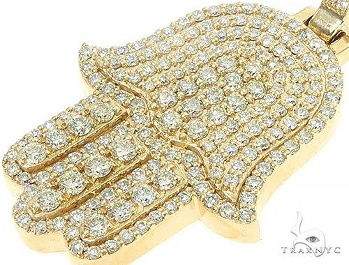 14K Yellow Gold Diamond Hamsa Pendant 65843 Metal