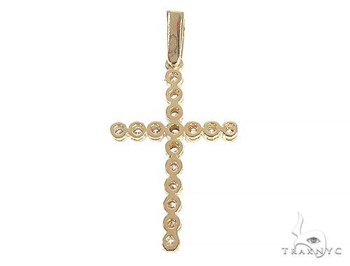 14K Gold Diamond  Cross 65301 Style