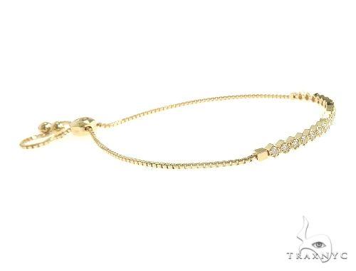 14K Yellow Gold Diamond Bolo Bracelet 66126 Diamond