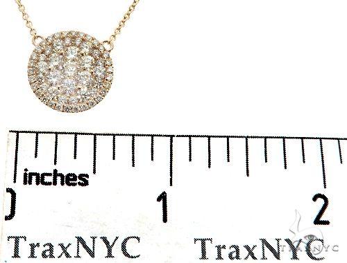 14K Yellow Gold Diamond Cluster Pendant 64785 Diamond