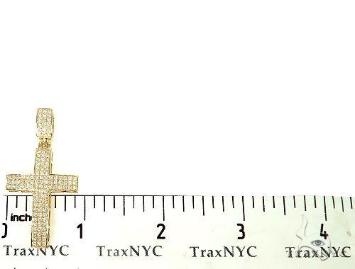 14K Gold Diamond Cross Pendant 65953 Diamond