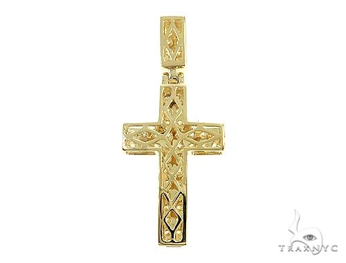 14K Yellow Gold Diamond Cross Pendant 65954 Diamond Cross Pendants