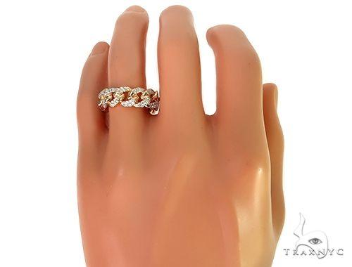 14K Yellow Gold Diamond Cuban Link Ring 66194 Stone