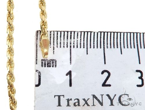 14K Yellow Gold Diamond Cut Solid Rope Chain 22 Inches 2.5mm 11.45 Grams 64770 Gold