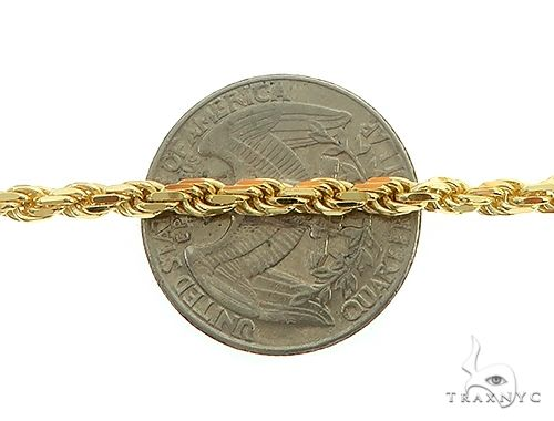 14K Yellow Gold Diamond Cut Solid Rope Link Chain 28 Inches 3.5mm 29 Grams 66301 Gold