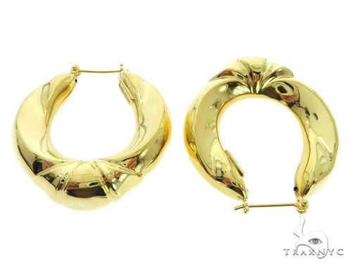 14K Yellow Gold Diamond Earrings 58626 Style