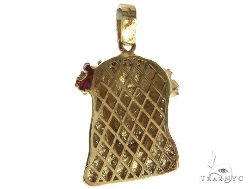 14K Yellow Gold Diamond Jesus Head Pendant 63960 Style