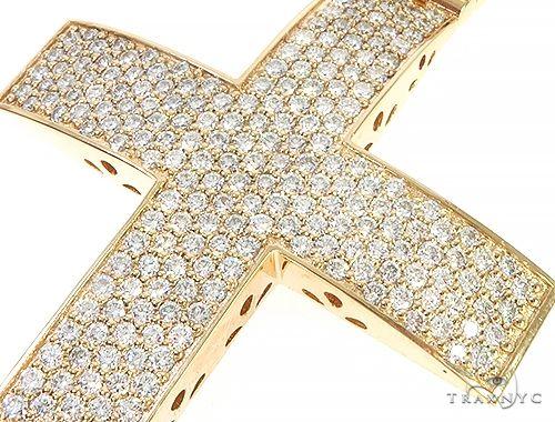 14K Yellow Gold Diamond Large Cross 65665 Diamond