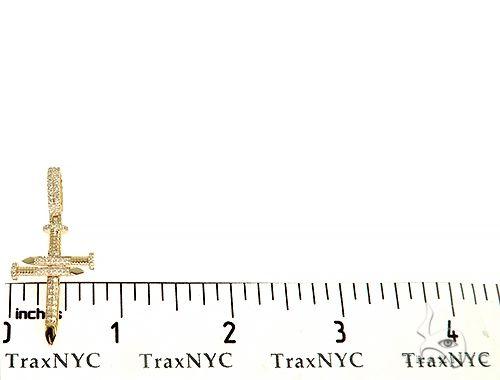 14K Gold Diamond Nail Cross 65968 Diamond Cross Pendants