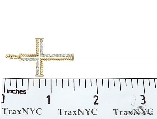 14K YG,WG or RG Diamond Rope Cross 65304 Diamond