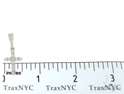 14K Yellow Gold Diamond Small Cross 65299 Style