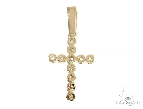 14K Yellow Gold Diamond Small Cross 65300 Style